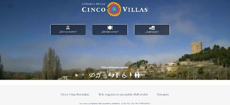Destinos turísticos accesibles. Cinco Villas accesible. Desarrollado y promocionado por Equalitas Accesibilidad.