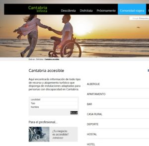 Destinos turisticos accesibles. Cantabria accesible