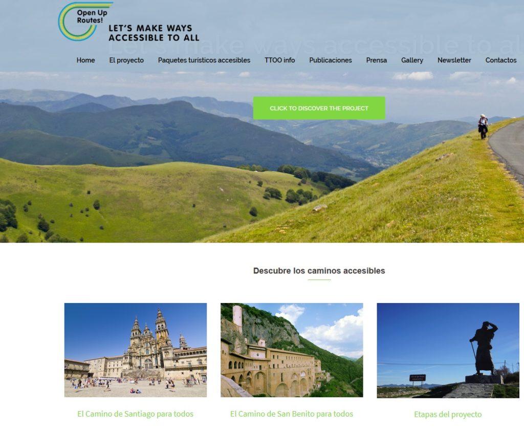 Proyectos Europeos Open Up Routes. Participado por Equalitas Accesibilidad