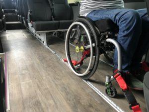 Anclaje de sillas de ruedas en autocares