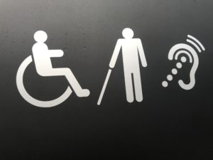 Señalización con Pictogramas discapacidad en transporte